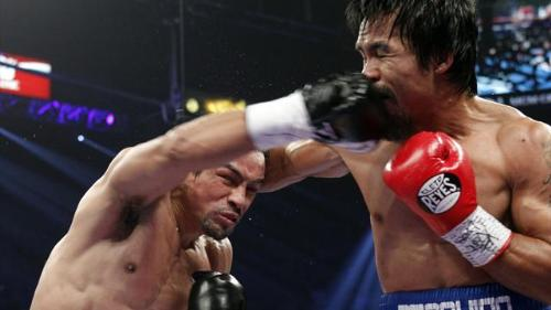 Monster punch by Marquez - That punch that puts Pacquiao down on the 6th Round