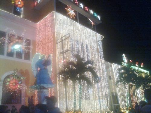 Starlight Starbright - The lights were on signifying the coming of the birth of the Savior Jesus Christ in a simple rites to open the annual festival of lights and music of La Carlota, a week-long Christmas celebration.