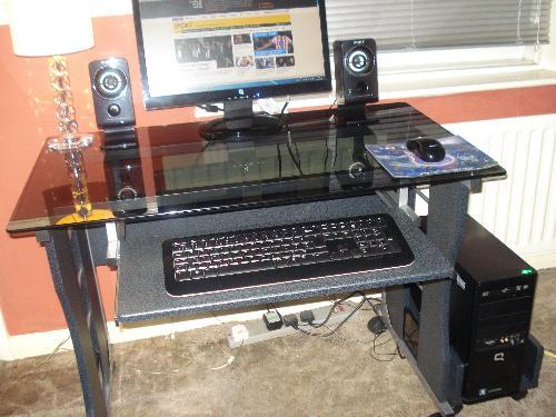 New Computer Desk Assembled - My New Computer Desk - Love It!