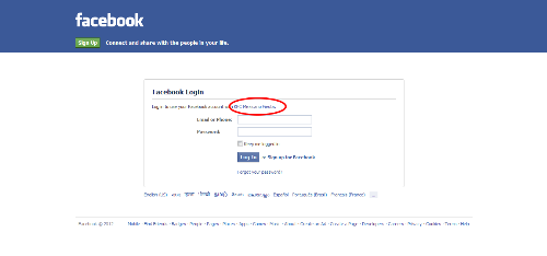 Fake Facebook Log in page? - This was the page that came when I clicked one of the sites on Ayuwage.