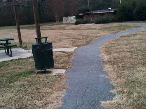 Walking trail - This is a walking trail at a nearby park.