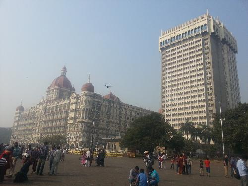 The Taj Mahal Palace Hotel - This picture was taken from outside the Gateway Of India. The tower is adjacent to the palace.
