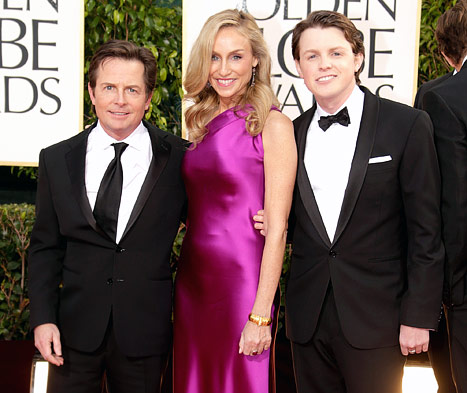 MIchael J. Fox, son and Taylor Swift - cute threesome!