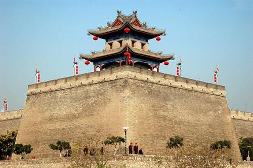 the wall - An old huilding,is the landmark building in Xi'an.