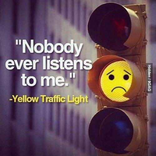Yellow Light - Traffic Light...No body listens to me...
