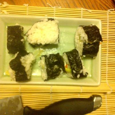 My attempt at sushi - My first attempt at making sushi