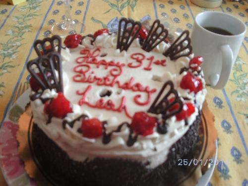 My birthday cake. Doesn't that look good?  - It was perfect!!!