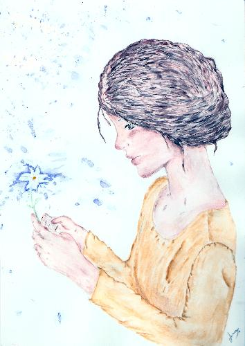One of my drawings - Painting in watercolors