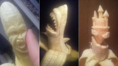 Banana Sculpting - Crazy isn't it?