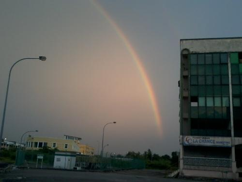 beauty rainbow - it happen after a short rain and it come out