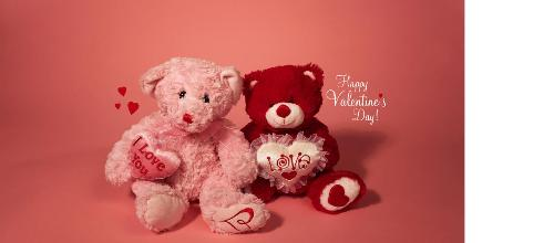 Happy Valentines Day - cuddly bears to share with your loved one
