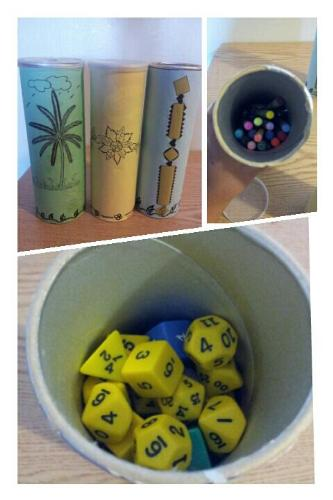 Pencil Cases - This is my customized pencil cases and some dices case :)