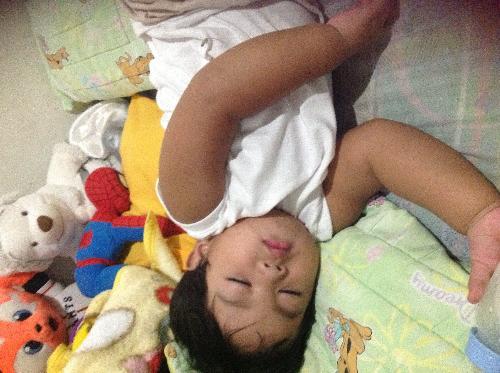 my son - my little boss sleeping