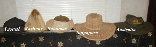 My collection of hats - I love collecting hats but am famous for losing them.