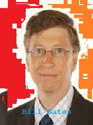 Millionaire - Bill gates owns Microsoft and one of the billionaire in the world.