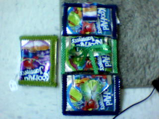 wallets with decorations - koolaid wallets made by me