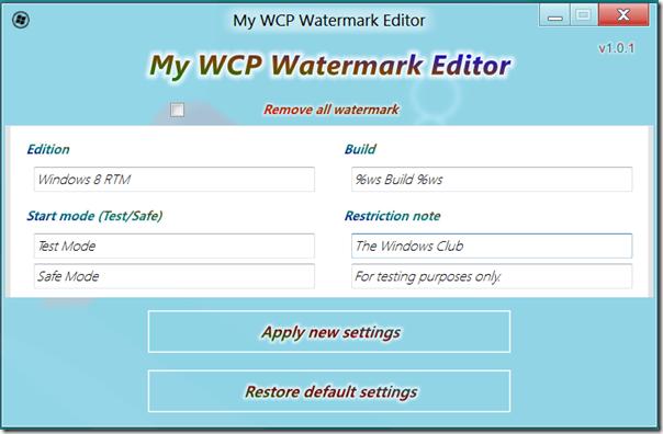 Windows Watermark Removal