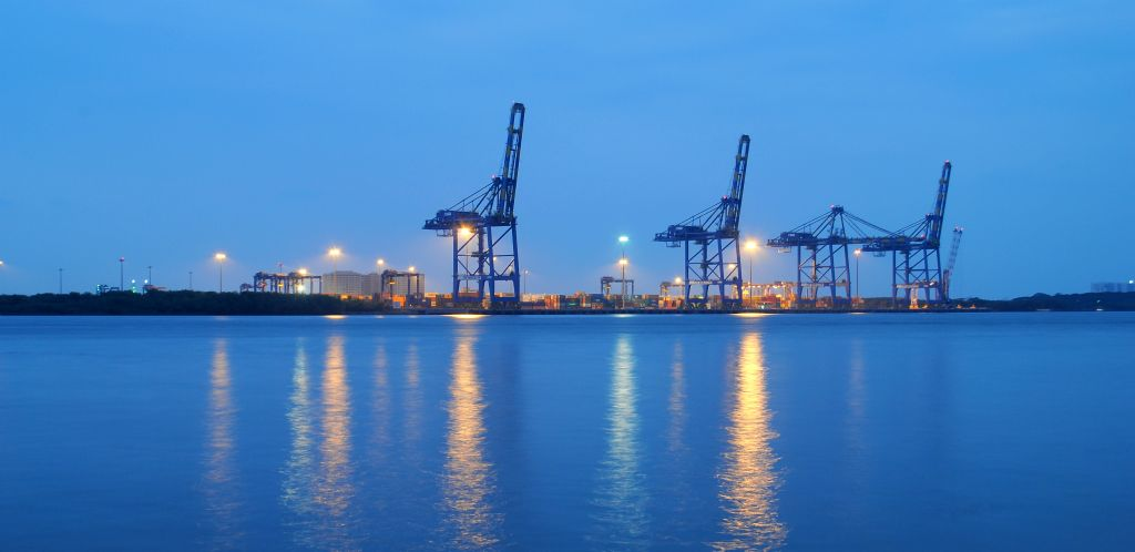 Cochin Port in India