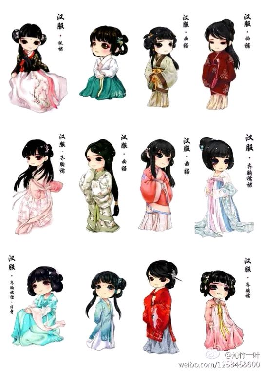 This is the most beautiful clothes - hanfu Chinese han nationality.
