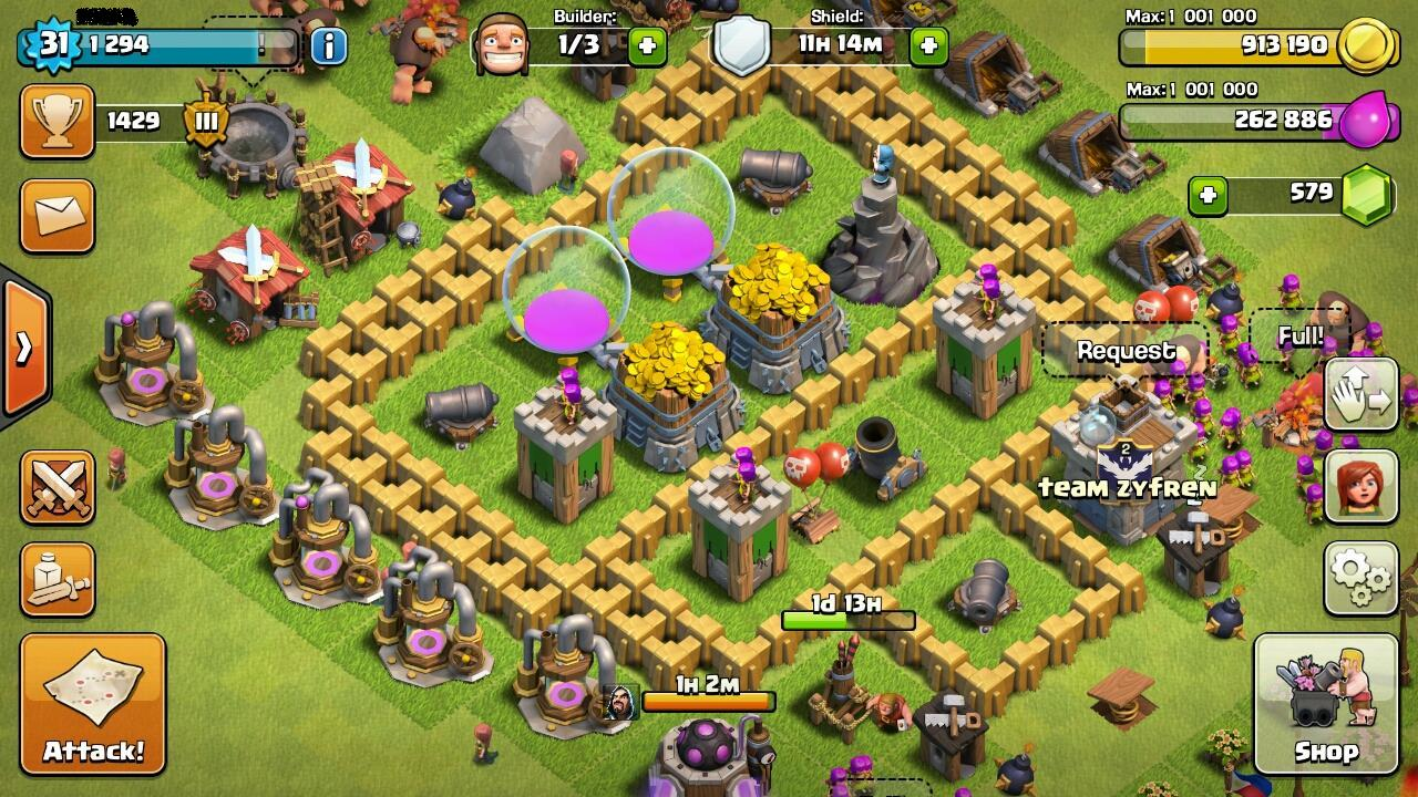 my village in COC when I was still in level 31