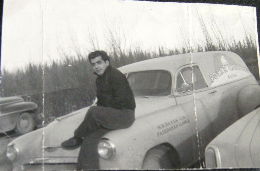 This is an early photo while in the Army at Fairbanks,Alaska