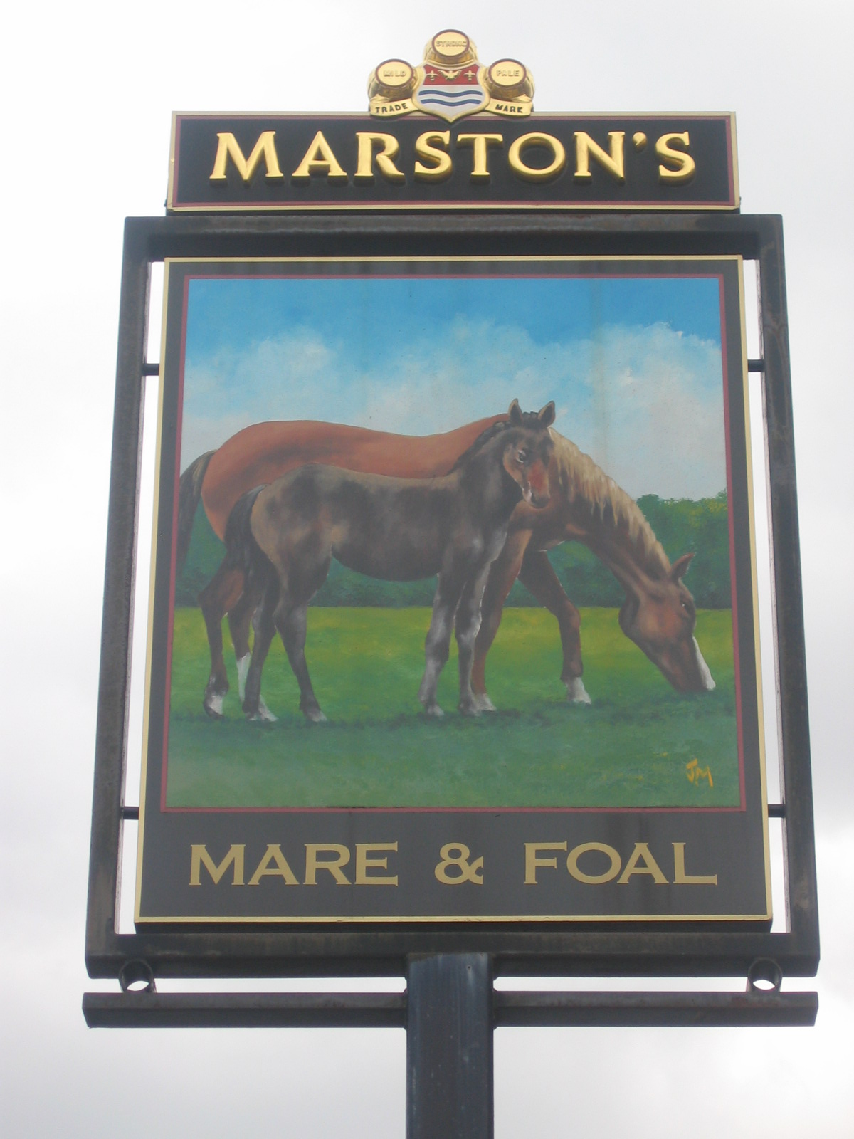Pub sign Photo study - The Mare and Foal, Failsworth, Manchester - taken by me