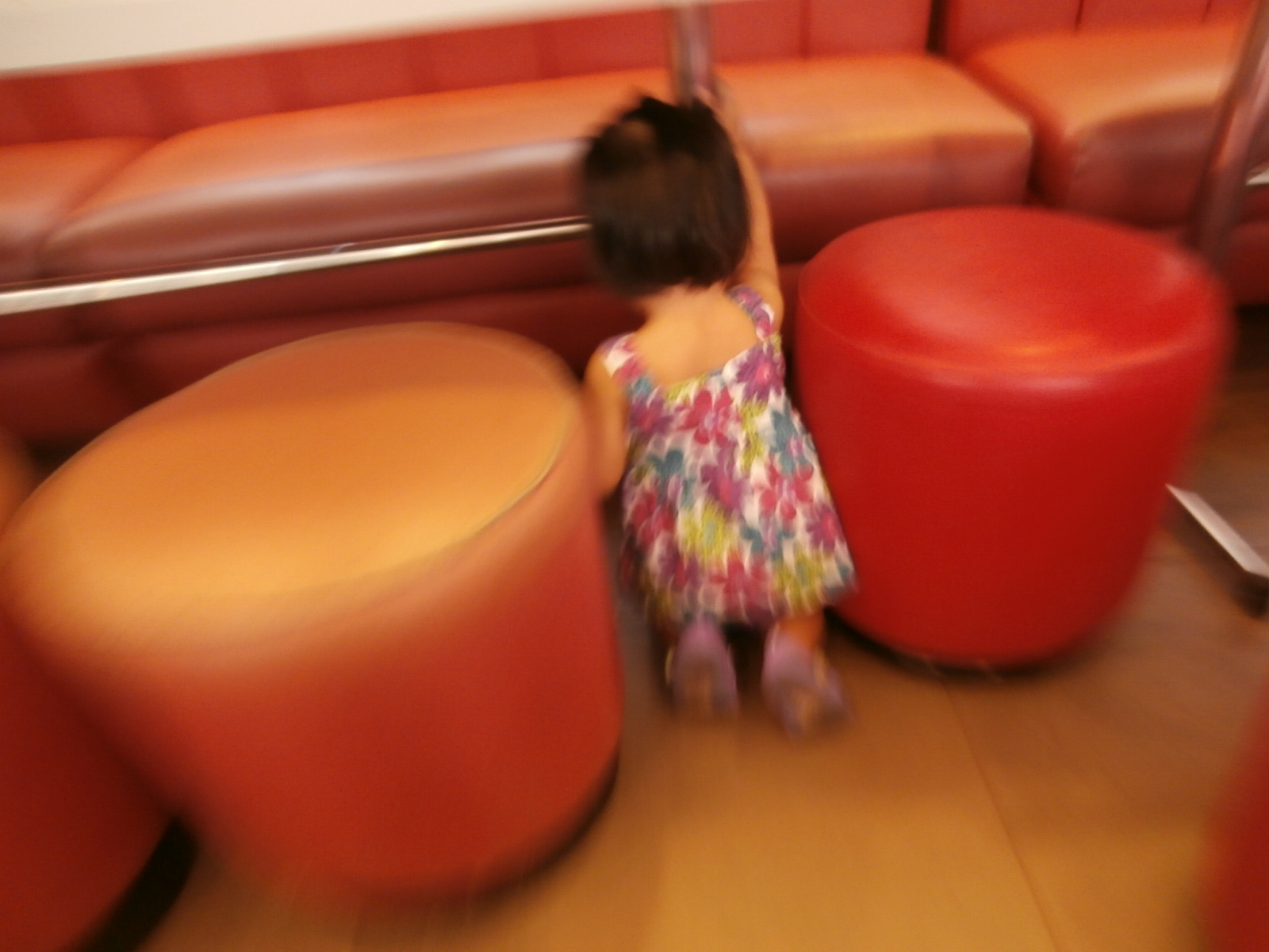a kid playing at Jollibee she is only 1 kid for now
