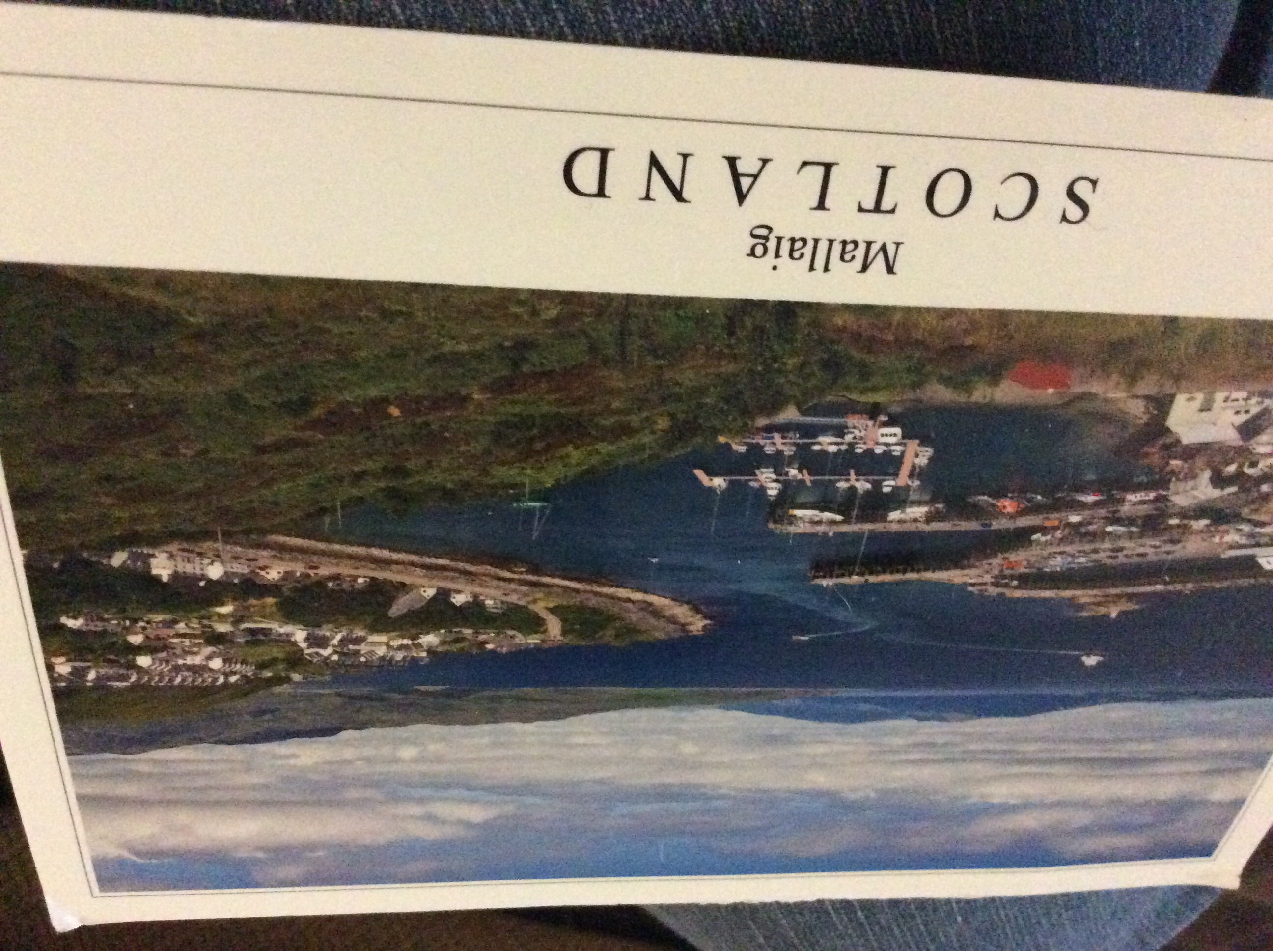 Postcard from my Belgium friend who was visiting in Scotlland.