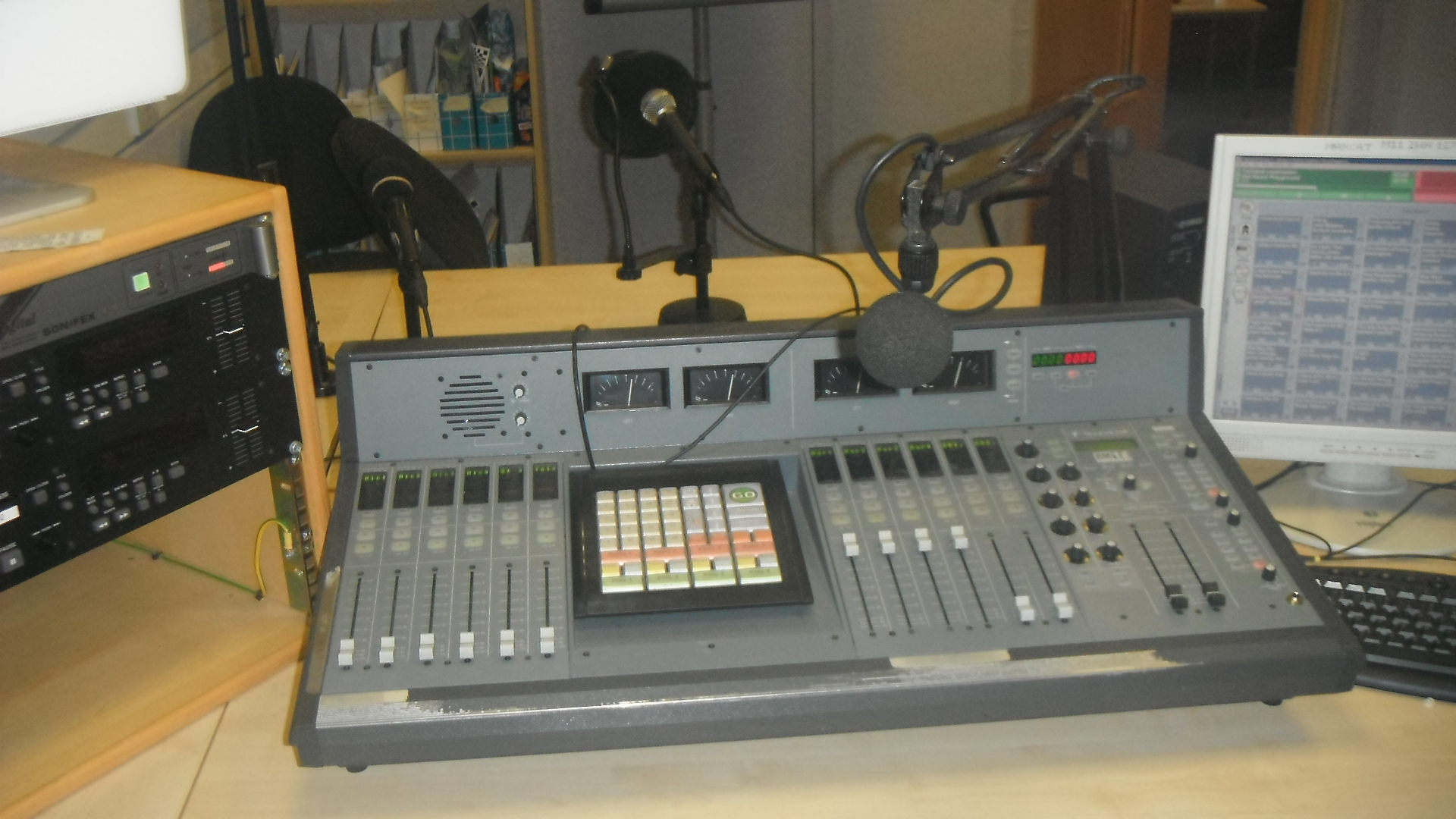 radio studio equiptment, as used by and photographed by me