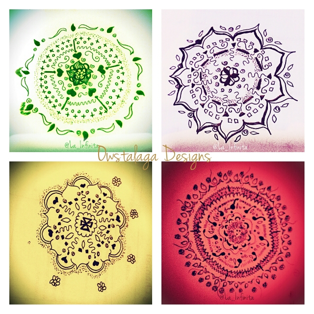 My mandala art, all posted in my Instagram. :D