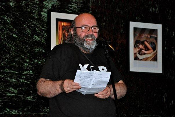photo of me performing poetry, taken by Andy N