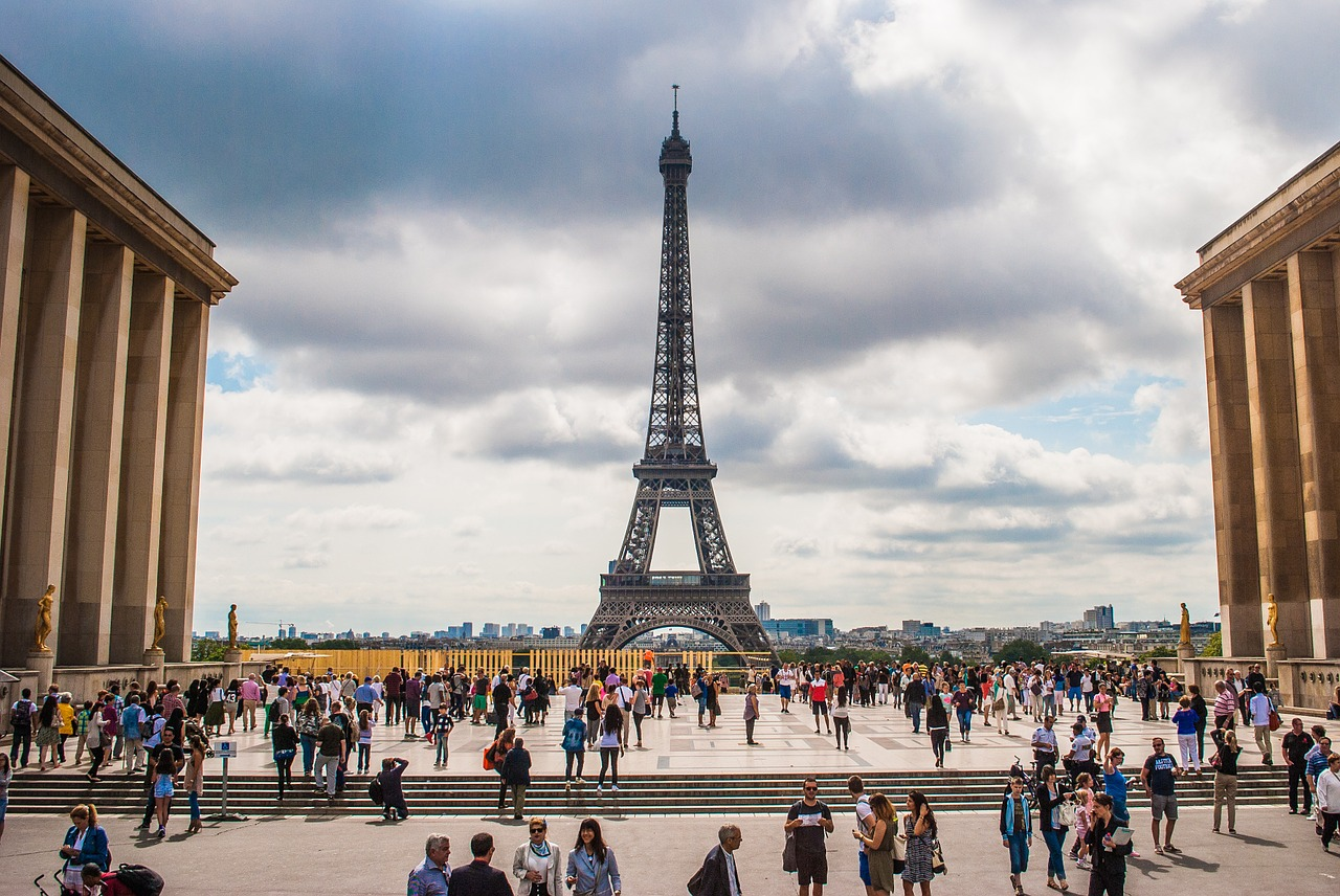 The iconic Eiffel Tower in Paris