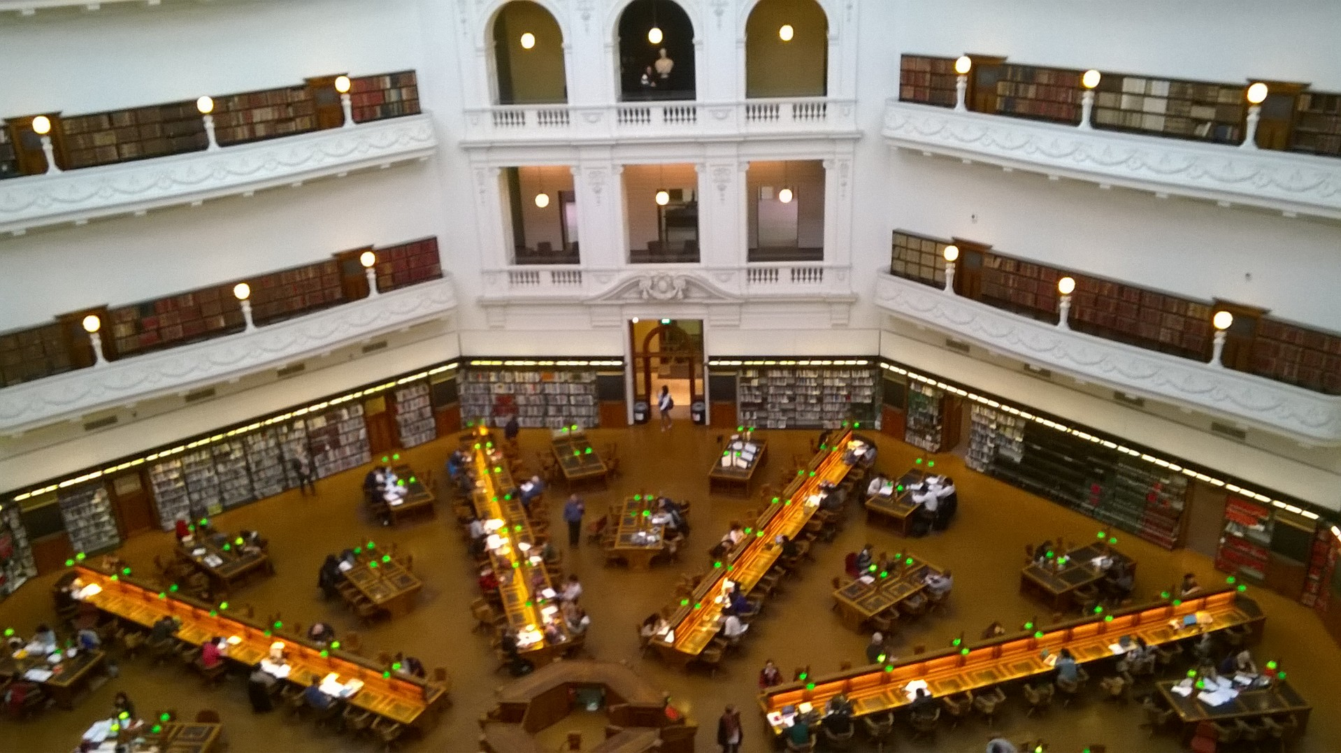 Victoria State Library, Melbourne, Australia by Val Mills