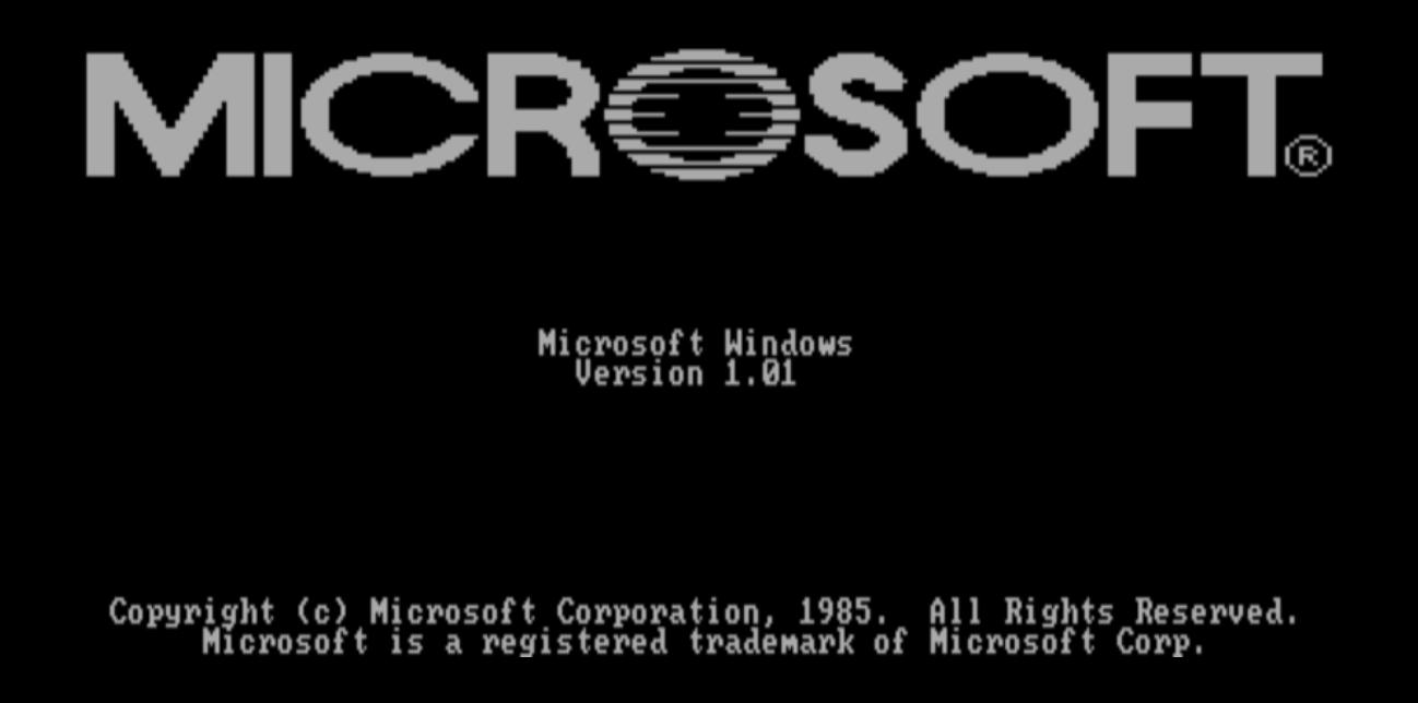 Startup screen Windows 1.01