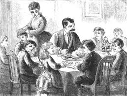 Thanksgiving past image from wikimedia via creative commons
