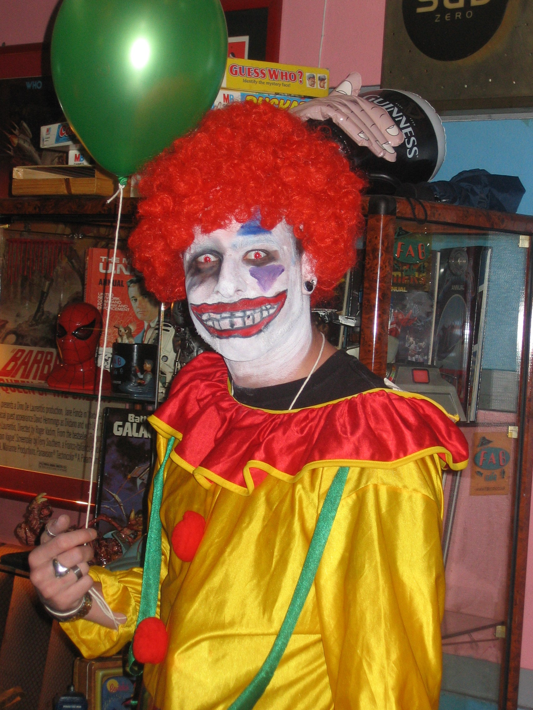 Photo taken by me – evil zombie clown in Satan's Hollow, Manchester