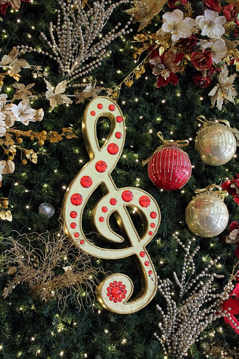 Christmas songs image from Pixabay