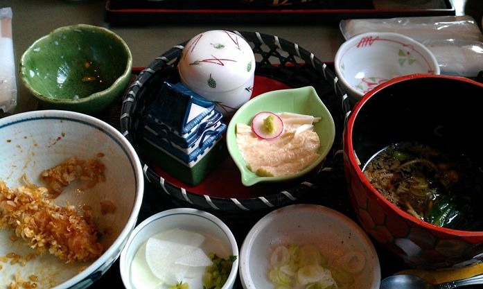 Food in Japan, no idea what I was eating!