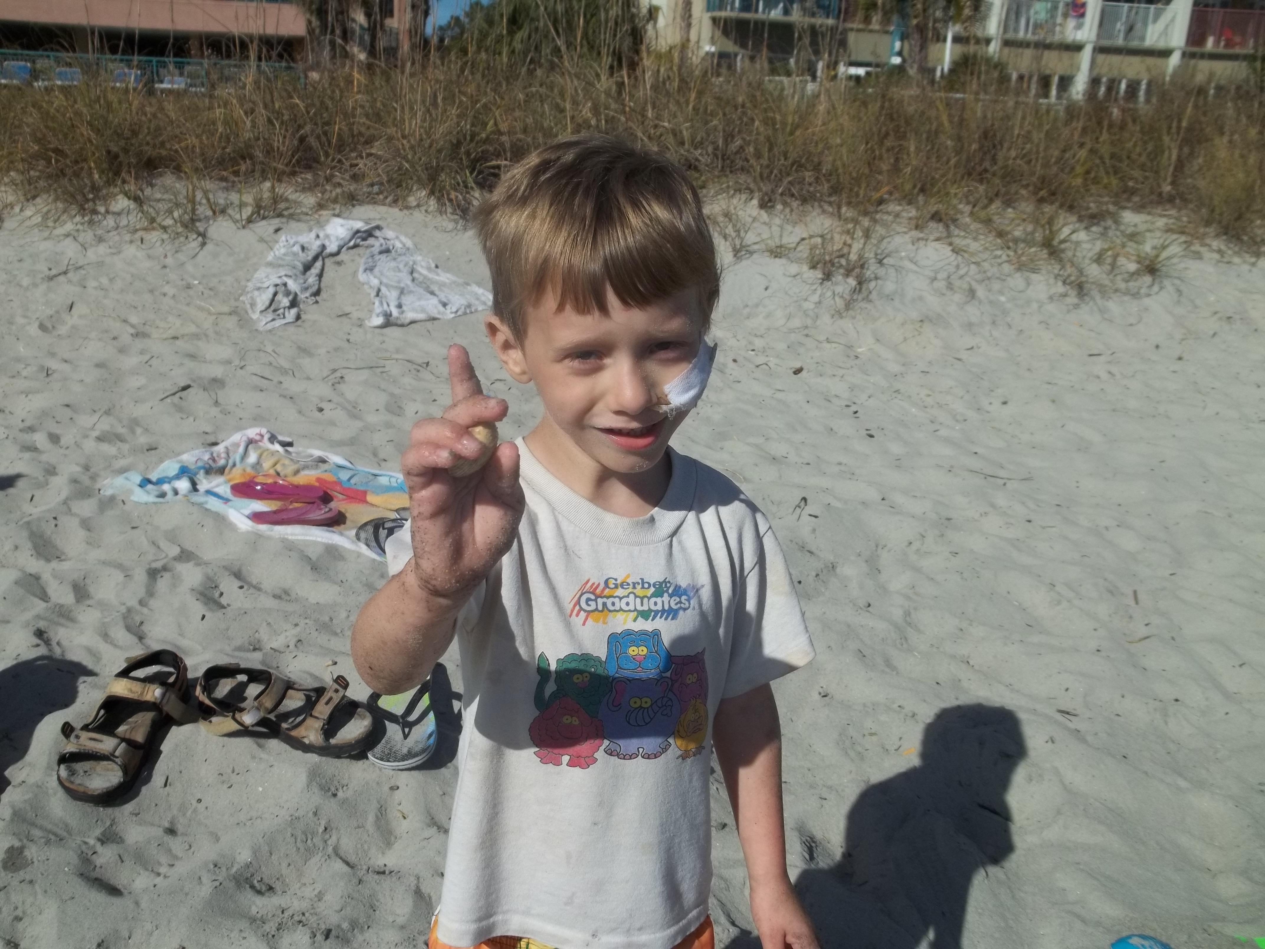 My little guy enjoying some sun
