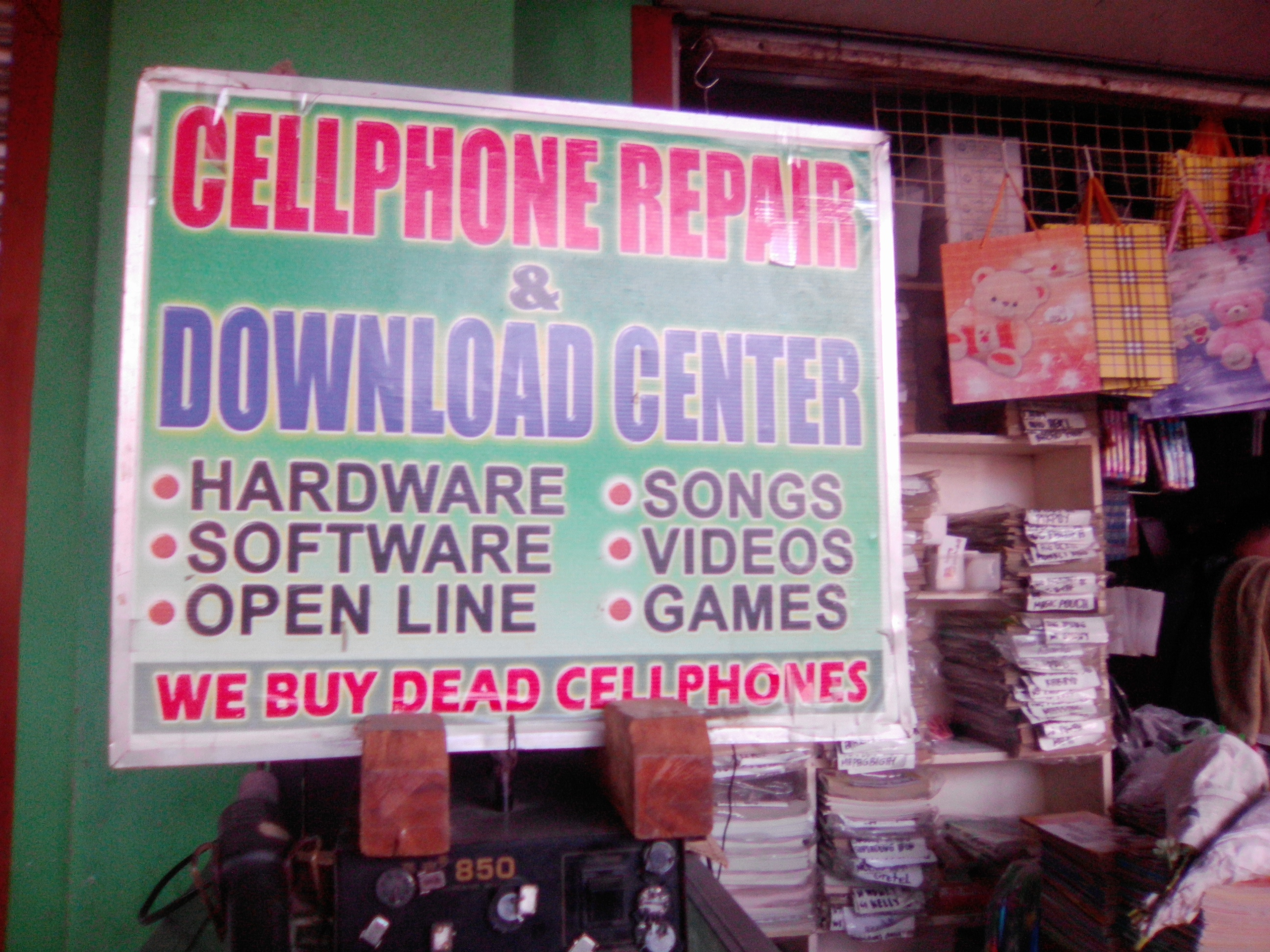 the poster with the DEAD CELLPHONE taken by me!