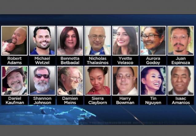 San Bernardino attack-victims