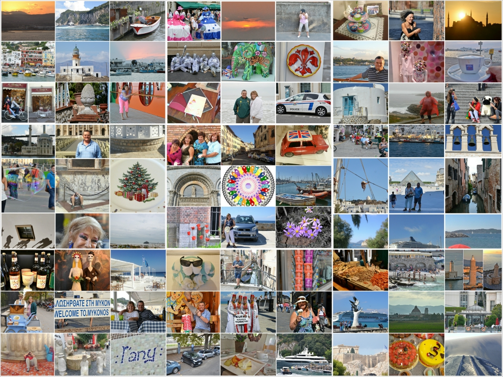 my travel collage of photos