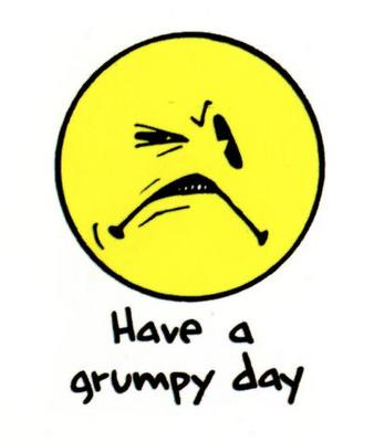 grumpy image from my photo file.Original from google image