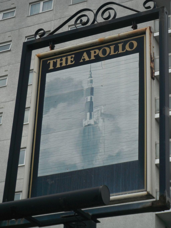 Photo taken by me – The Apollo pub sign, Miles Platting, Manchester