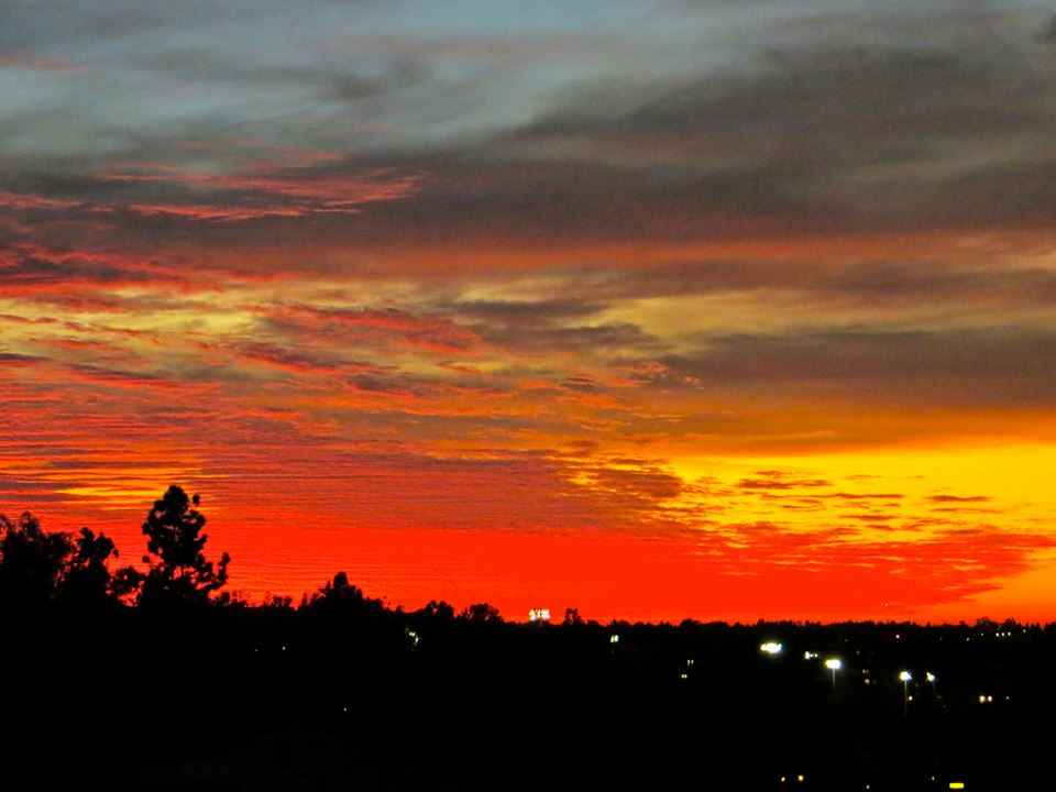 Sunset over Los Angeles; taken by author, Deborah-Diane
