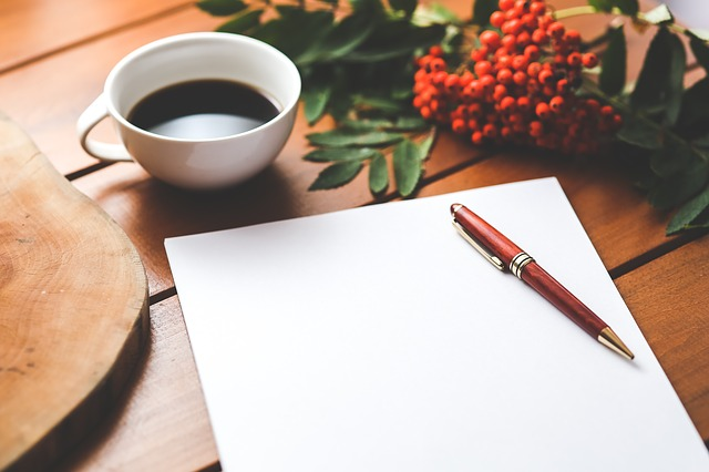 Coffee and Writing image from Pixabay