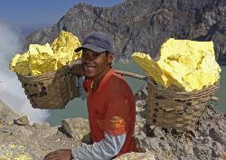 Kawah Ijen mining - Kawah Ijen mining