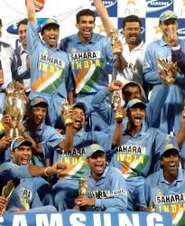 indian cricket team-led by saurav ganguly,the grea - indian cricket team after winning a tournament in australia