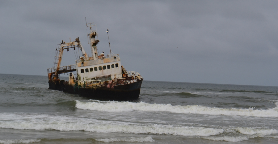 Shipwreck off Cape Cross Namibia