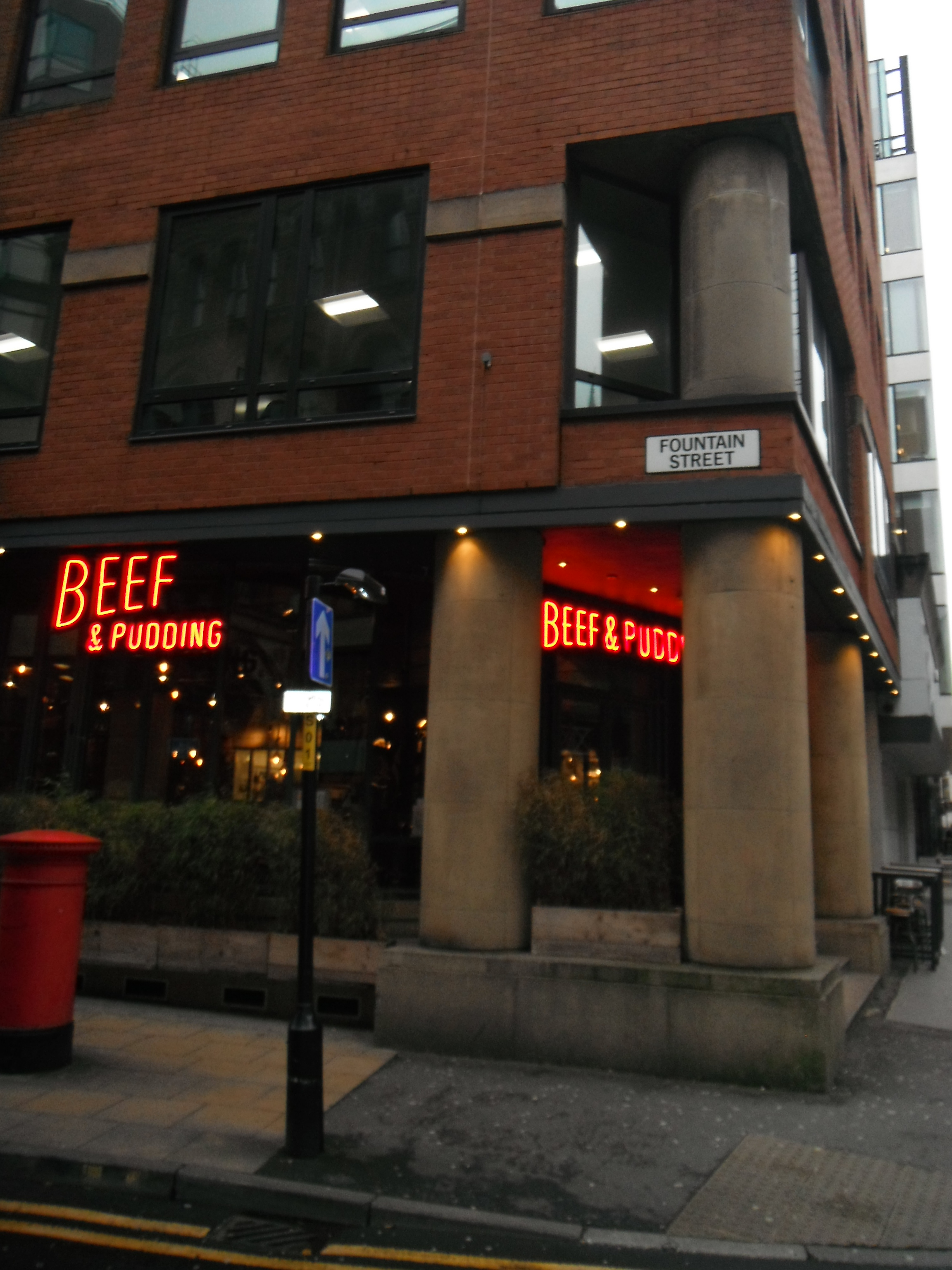 Photo taken by me – The Beef & Pudding bar, Manchester